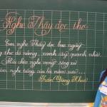 Dạy rèn chữ cho trẻ chuẩn bị vào lớp 1